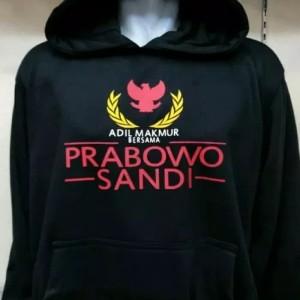 Jaket hoodie Prabowo sandi
