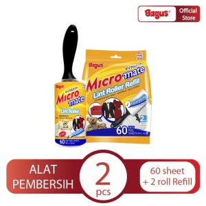 Bagus Micromate Lint Roller Cap Type 310 + Refill