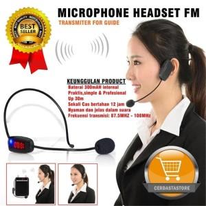 Mic Imam Penceramah Microphone Headset FM Transmitter Wireless