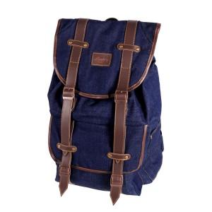 Lomberg Denise Navy - Tas Ransel Denim Backpack - Biru Tua