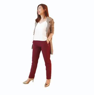 Celana Panjang Moin Maroon Pakaian Wanita Branded Original