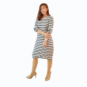 Dress Sweater Stripe Nyc Pakaian Branded Original Murah