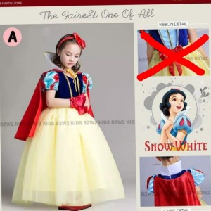 DRESS ANAK PRINCESS SNOW WHITE B2W2