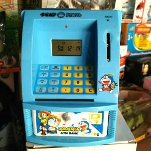 mainan jam ATM mini brangkas celengan tabungan bank belajar nabung
