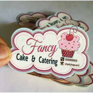 Stiker Label Makanan Minuman Cutting custom Sesuai Pola