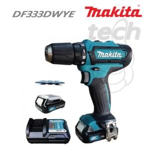 Cordless Drill / Mesin Bor Baterai Makita DF331DWYE - DF 331 DWYE