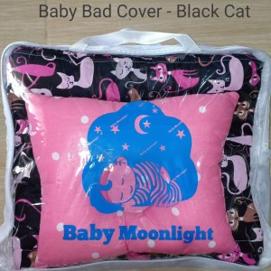 Baby Bed Cover - Black Cat