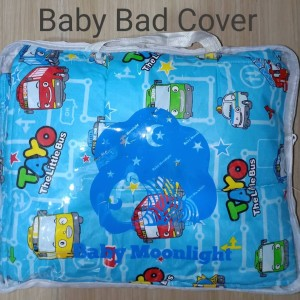 Baby Bed Cover - Tayo Blue