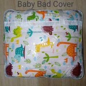 Baby Bed Cover - White Orange
