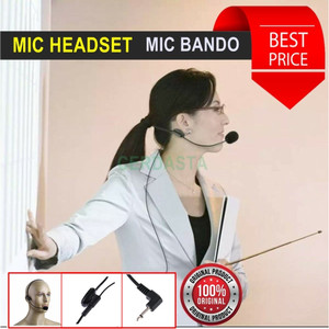 Mic penceramah Audio reciver Microphone mini headset Bando