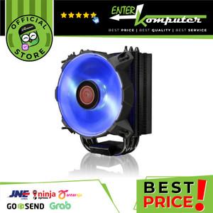 Heatsink Raijintek Leto Blue-120mm slim-type CPUcooler-Black Coated-AM