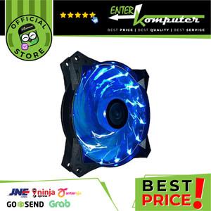 CUBE GAMING BRIGHT 15 LED BLUE FAN 12CM 1300RPM