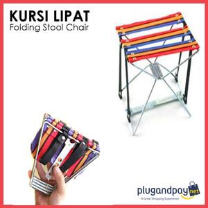 Kursi Lipat Memancing Serbaguna Folding Stool Chair - plugandpay