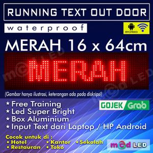 Jual LED RUNNING TEXT P10 OUTDOOR MERAH 16X64 PIXEL - Jakarta Timur - MCD  LED SPAREPART | Tokopedia