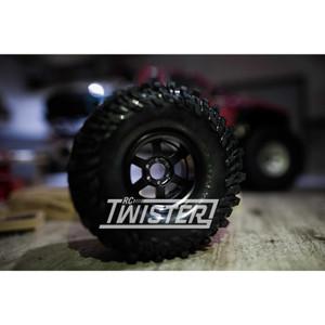 Boom Racing TE37XD KRAIT 1.9 Deep Dish Beadlock Wheels 4pcs - BLACK