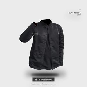 Jaket Parasut Casual Black Suit Resmi Nyaman Adem