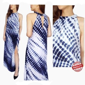 Dress Top Wanita Onetheland Biru Pakaian Branded Original Murah