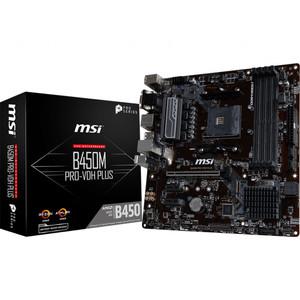MSI B450M Pro VDH (AM4, AMD Promontory B450, DDR4, USB3.1, SATA3)