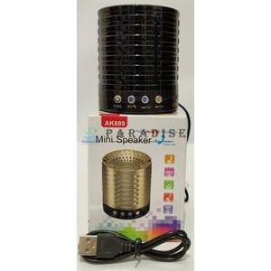 SPEAKER PORTABLE WIRELESS AK889 BLUETOOTH USB FM RADIO AUX MICROPHONE