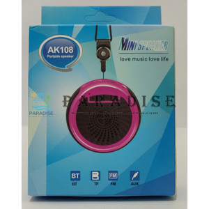 SPEAKER PORTABLE WIRELESS AK108 BLUETOOTH USB FM RADIO AUX MICROPHONE