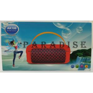 SPEAKER PORTABLE WIRELESS AK106 BLUETOOTH USB FM RADIO AUX MICROPHONE