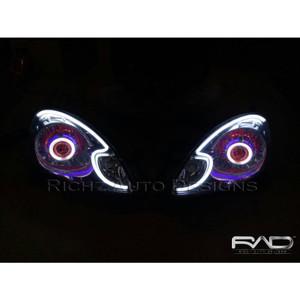 Custom Projector Angel Eyes+Hid+Devil Eyes+Drl Lexus Honda Mobilio