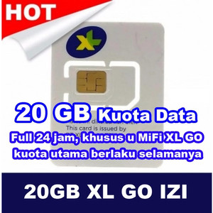 Jual Perdana XL GO IZI Kuota 20GB Full Reguler 24 Jam - Kota ...