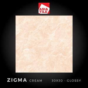 Asia Tile - ZIGMA CREAM - 30x30cm - Glossy - FREE DELIVERY