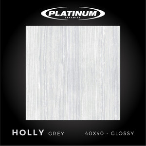 Platinum Ceramics - HOLLY GREY - 40x40cm - Glossy - FREE DELIVERY