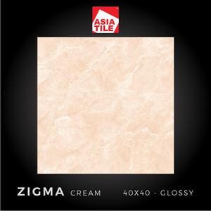 Asia Tile - ZIGMA CREAM - 40x40cm - Glossy - FREE DELIVERY