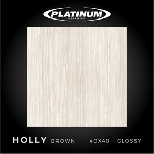 Platinum Ceramics - HOLLY BROWN - 40x40cm - Glossy - FREE DELIVERY