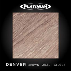 Platinum Ceramics - DENVER BROWN - 50x50cm - Glossy - FREE DELIVERY