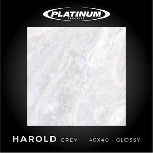 Platinum Ceramics - HAROLD GREY - 40x40cm - Glossy - FREE DELIVERY