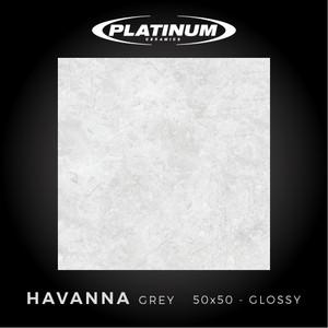 Platinum Ceramics - HAVANA GREY - 50x50cm - Glossy - FREE DELIVERY