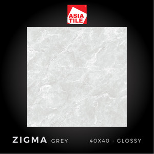 Asia Tile - ZIGMA GREY - 40x40cm - Glossy - FREE DELIVERY
