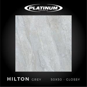 Platinum Ceramics - HILTON GREY - 50x50cm - Glossy - FREE DELIVERY