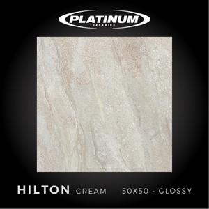 Platinum Ceramics - HILTON CREAM - 50x50cm - Glossy - FREE DELIVERY