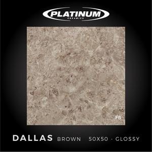 Platinum Ceramics - DALLAS BROWN - 50x50cm - Glossy - FREE DELIVERY