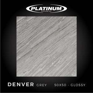 Platinum Ceramics - DENVER GREY - 50x50cm - Glossy - FREE DELIVERY