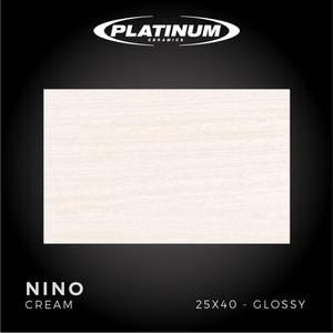 Platinum Ceramics - NINO CREAM - 25X40cm - Glossy - FREE DELIVERY