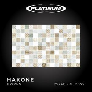 Platinum Ceramics - HAKONE BROWN - 25X40cm - Glossy - FREE DELIVERY