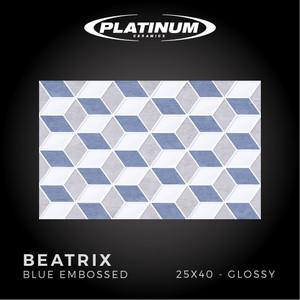 Platinum Ceramics - BEATRIX BLUE EMBOSSED - 25x40cm - Glossy - F.D.