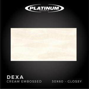 Platinum Ceramics - DEXA CREAM EMBOSSED -30x60 -Glossy - FREE DELIVERY