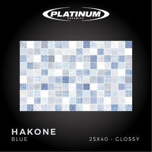Platinum Ceramics - HAKONE BLUE - 25X40cm - Glossy - FREE DELIVERY