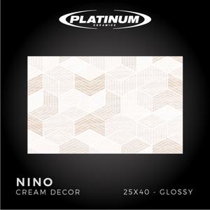 Platinum Ceramics - NINO CREAM DECOR - 25X40cm -Glossy - FREE DELIVERY