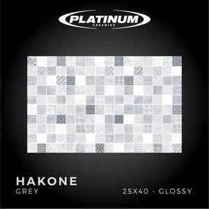 Platinum Ceramics - HAKONE GREY - 25X40cm - Glossy - FREE DELIVERY