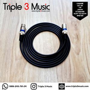 Kabel mic microphone XLR male to XLR fe 3m CANARE L2T2S Japan Standard