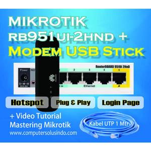 Paket Mikrotik RB951Ui-2HnD Dengan Modem Stick 4G LTE All Operator