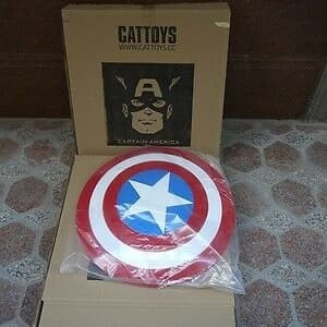 CATTOYS 1:1 The Avengers Captain America ABS Shield Movie Color Version