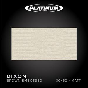 Platinum Ceramics - DIXON BROWN EMBOSSED -30x60 - MATT - FREE DELIVERY